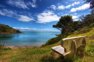 长椅环境优美摄影